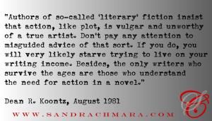 SC Blog - Koontz - Literary Fiction Quote