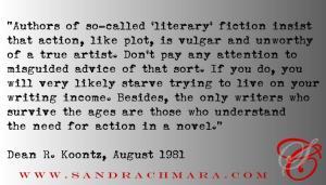 SC Blog - Koontz - Literary Fiction Quote